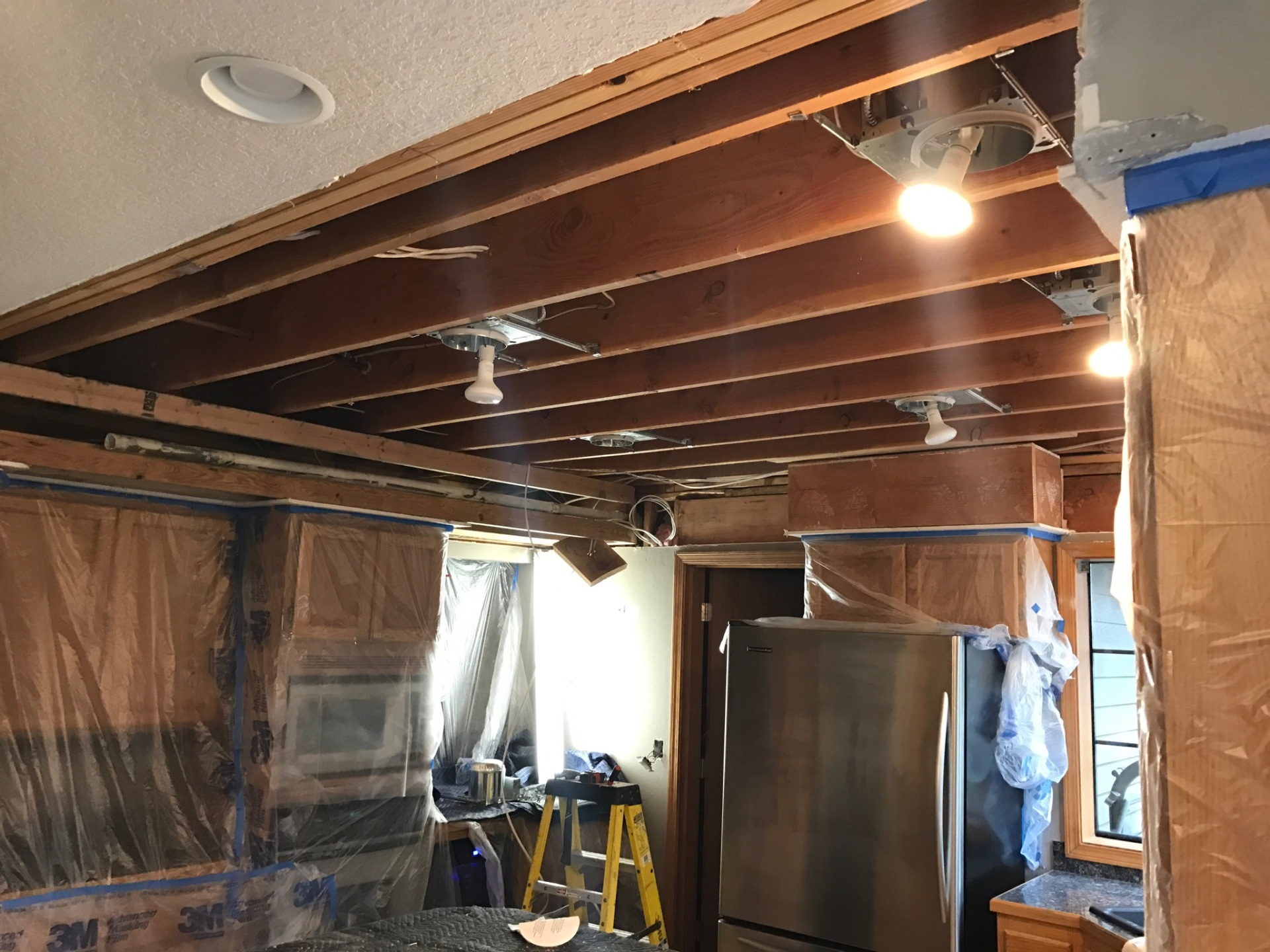 Kitchen Ceiling Remodel- During