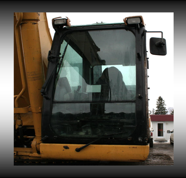 CAT 345CL Cab with glass