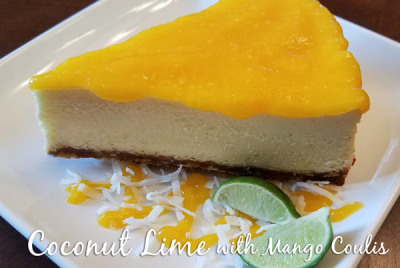 Coconut Lime with Mango Coulis