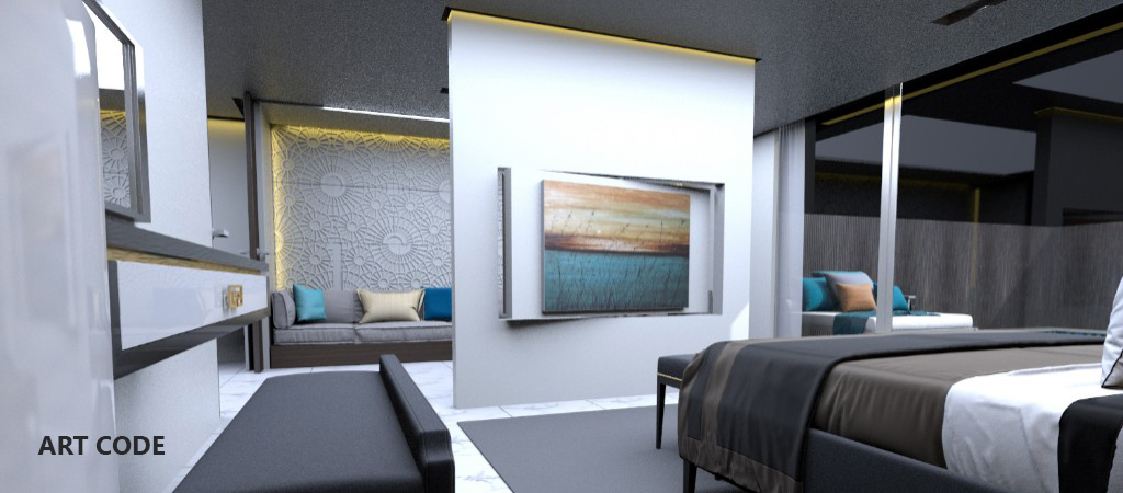 MASTER'S BEDROOM AND LIVING AREA (2)