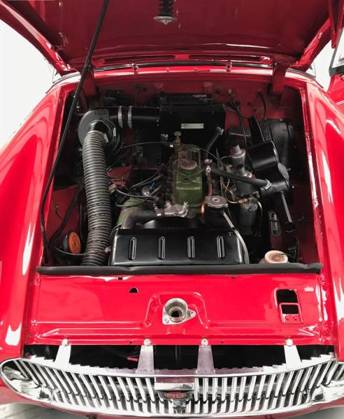 MG Midget MK1 Engine Bay Detail