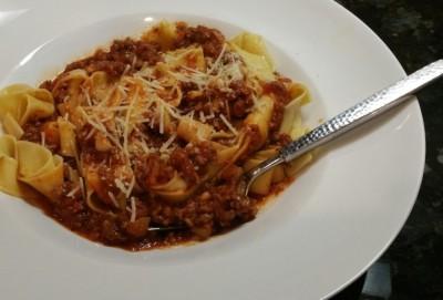 Pasta with Sausage Ragu
