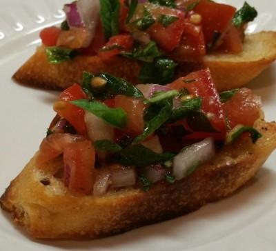 Heirloom Tomato Brushetta