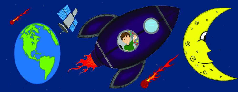 rocket, rocketship, moon, billy