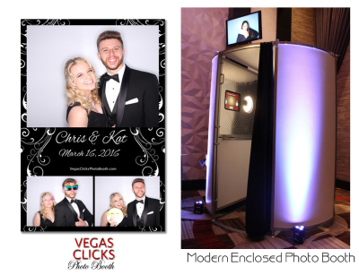 Modern Enclosed Photo Booth Rental Las Vegas