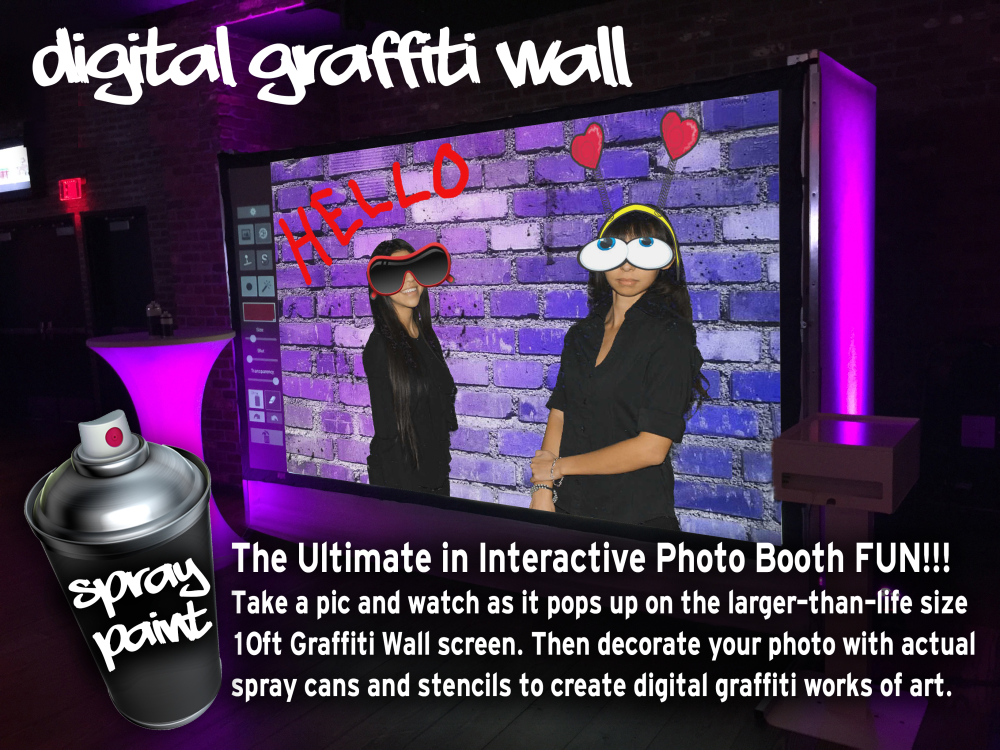 Digital Graffiti Wall Photo Booth Las Vegas Phoenix Los Angeles San DiegoRental