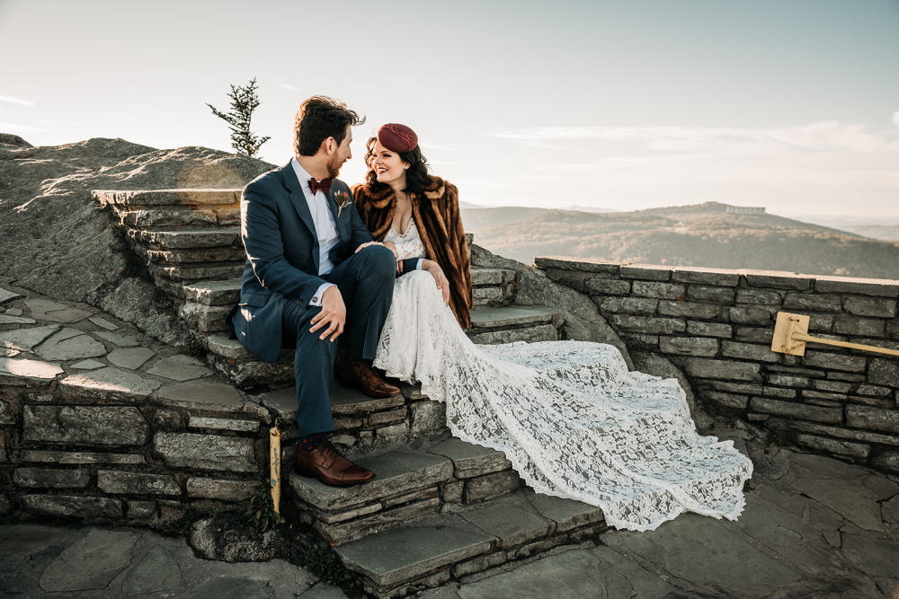 A Romantic Elopement at Grandfather Mountain