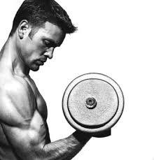picture of a guy doing a bicep curl