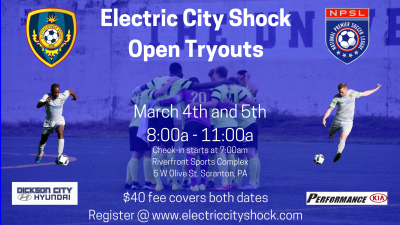 Electric City Shock Announce Open Tryouts
