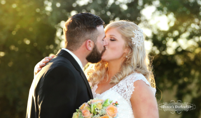 First Kiss Sacramento Wedding