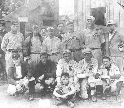 Ty Cobb Spring Training Team In Augusta, Georgia 1910