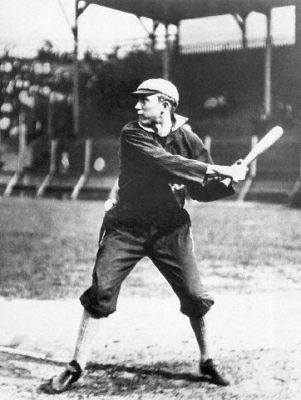 Young Ty Cobb At Bat