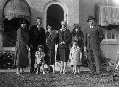 Ty Cobb And His Family In Sarasota, Florida