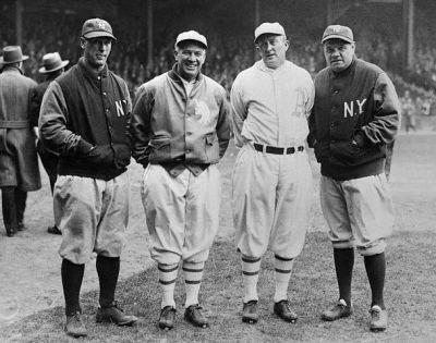 Lou Gehrig, Tris Speaker, Ty Cobb And Babe Ruth