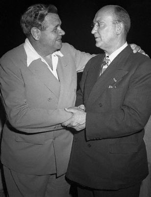 Ty Cobb Shakes Hands With Babe Ruth