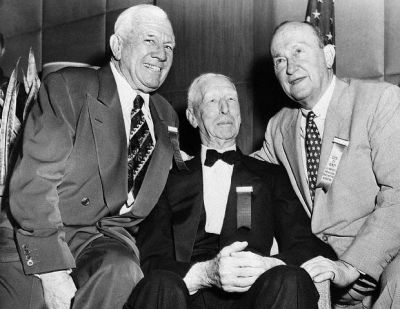 Ty Cobb, Tris Speaker And Connie Mack
