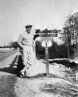 Ty Cobb Pauses On The Road In Georgia