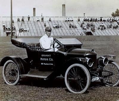 Ty Cobb in Grant Motor Company Automobile