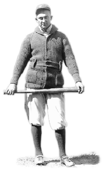 Ty Cobb Poses With His Bat