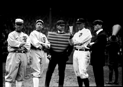Ty Cobb during a pregame ritual