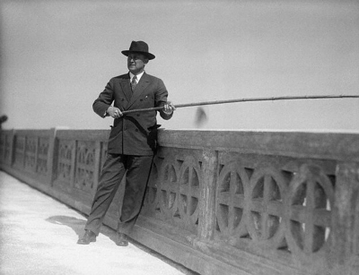 Ty Cobb Fishing From Ringling Bridge In Sarasota