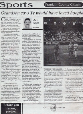 Thursdays July 23, 1998 Franklin County Citizen (Lavonia, Ga.)