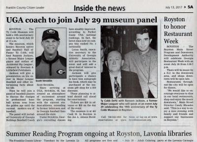 July 13, 2017 Franklin County Citizen Leader (Lavonia, Ga.)