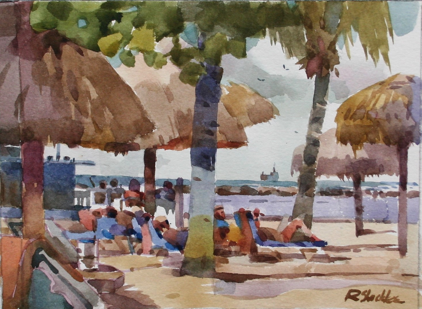 Curacao Beach Plein Air 1