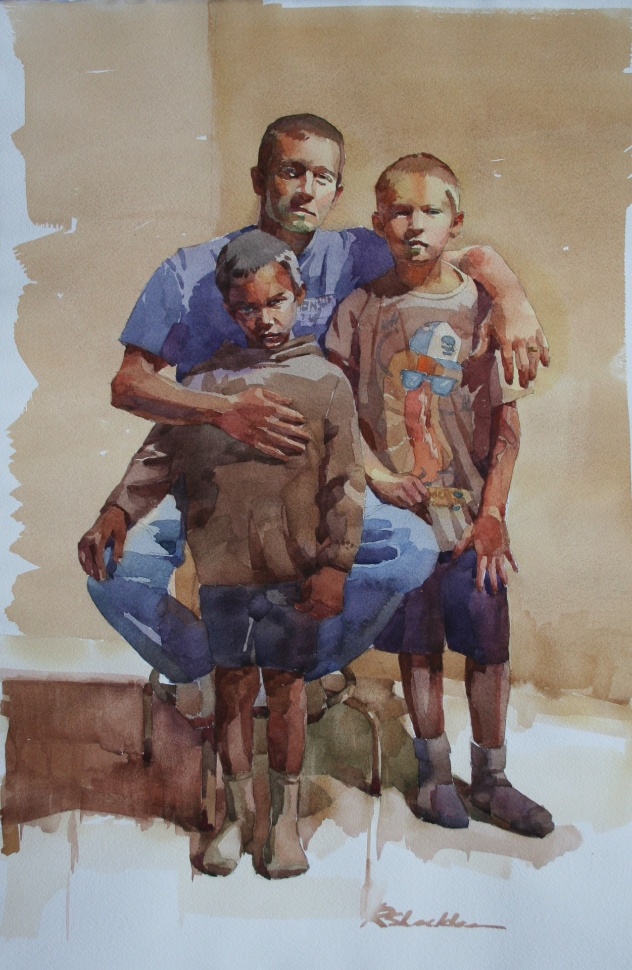 Fathers and Sons Colour Study