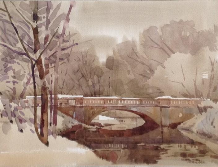 Church St Bridge in Winter