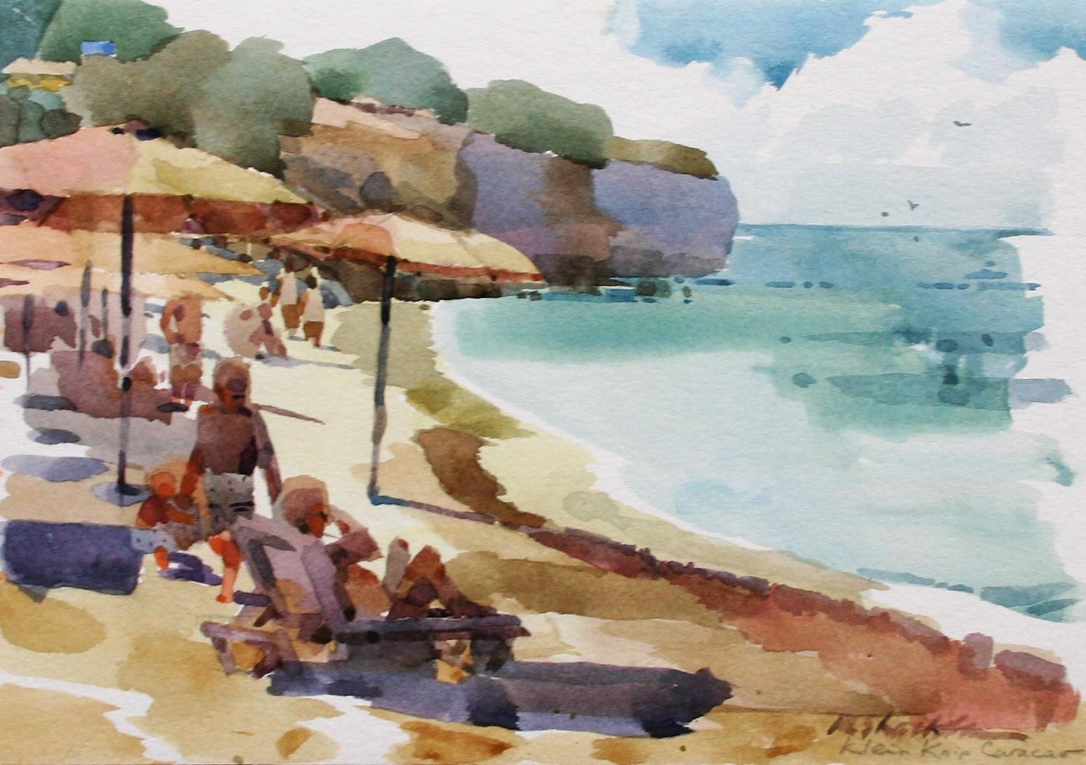 Curacao 2017 Beach Scene Pleine air