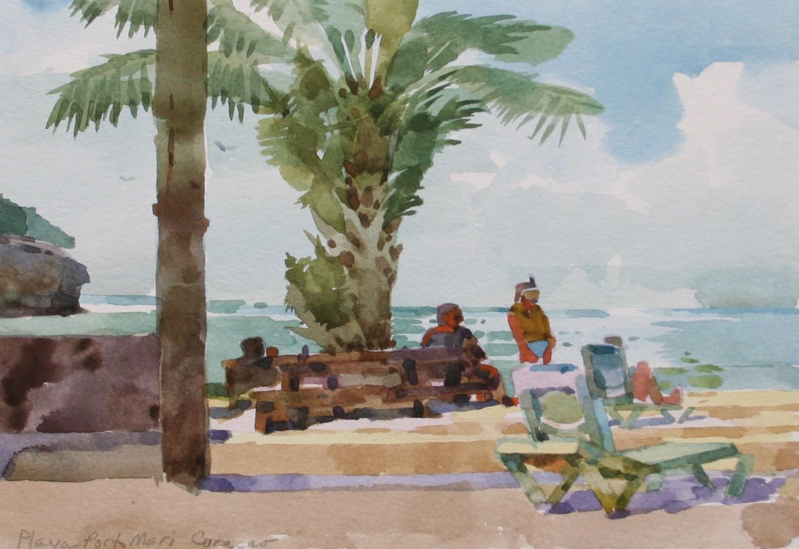 Curaco Beach Scene Pleine Air