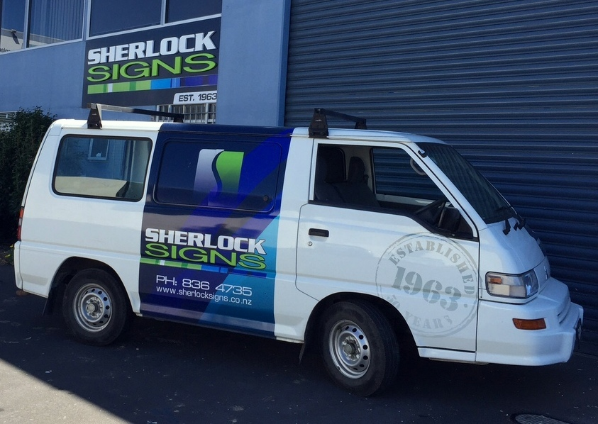 Sherlock Signs, Auckland, Signage, Building Signage, Street Signs, Signwriters, Vehicle Signage, Truck Signage, Promotional Signage, Banners, Brushed Signs, Site Signs, Safety Signs