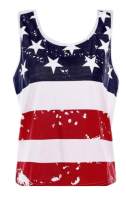 American Flag Design Tank Top