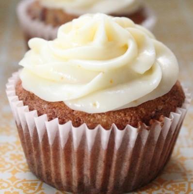 Orange Cranberry Cupcake
