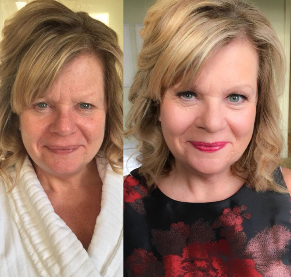 Mother of bride makeup looking lovely