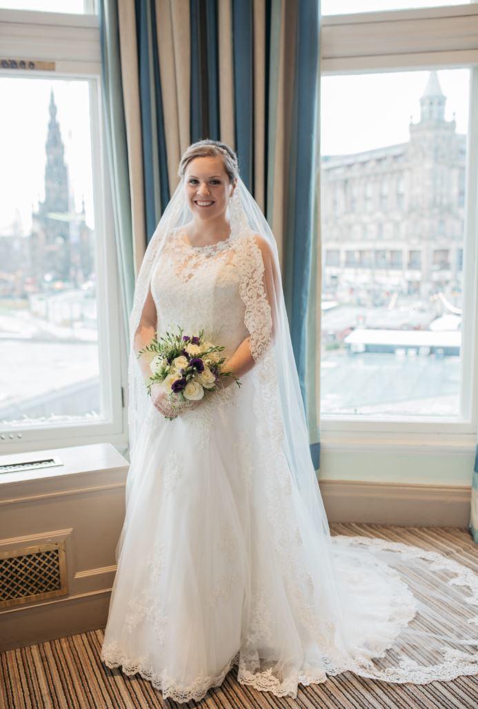 Gorgeous bride Caitlin