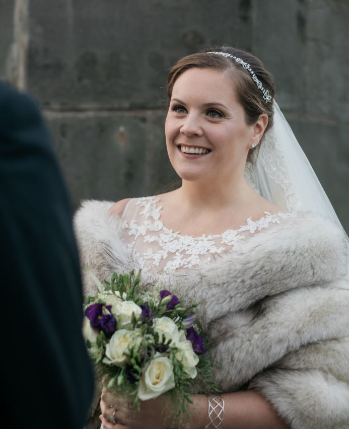 Beautiful bride caught in the moment