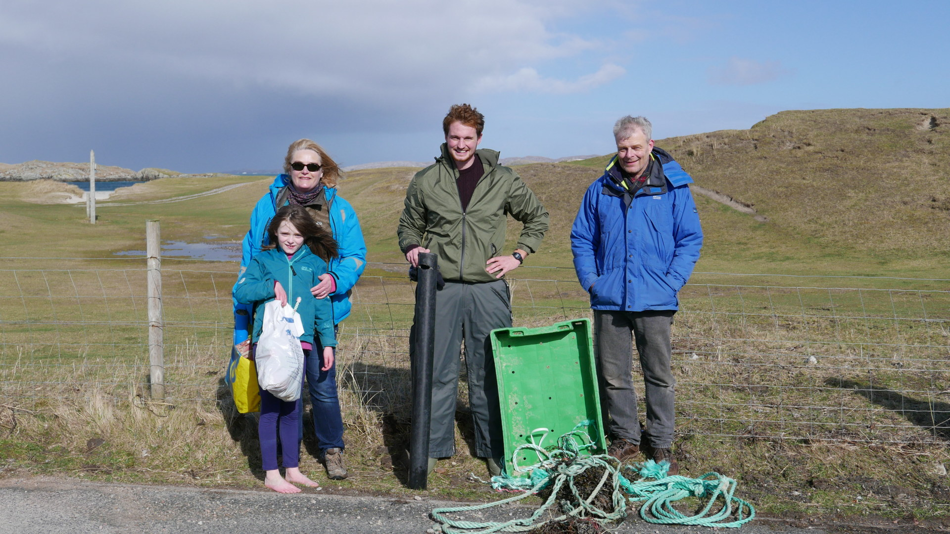 Beach Clean Up - It's a Family Affair in the Hebrides!