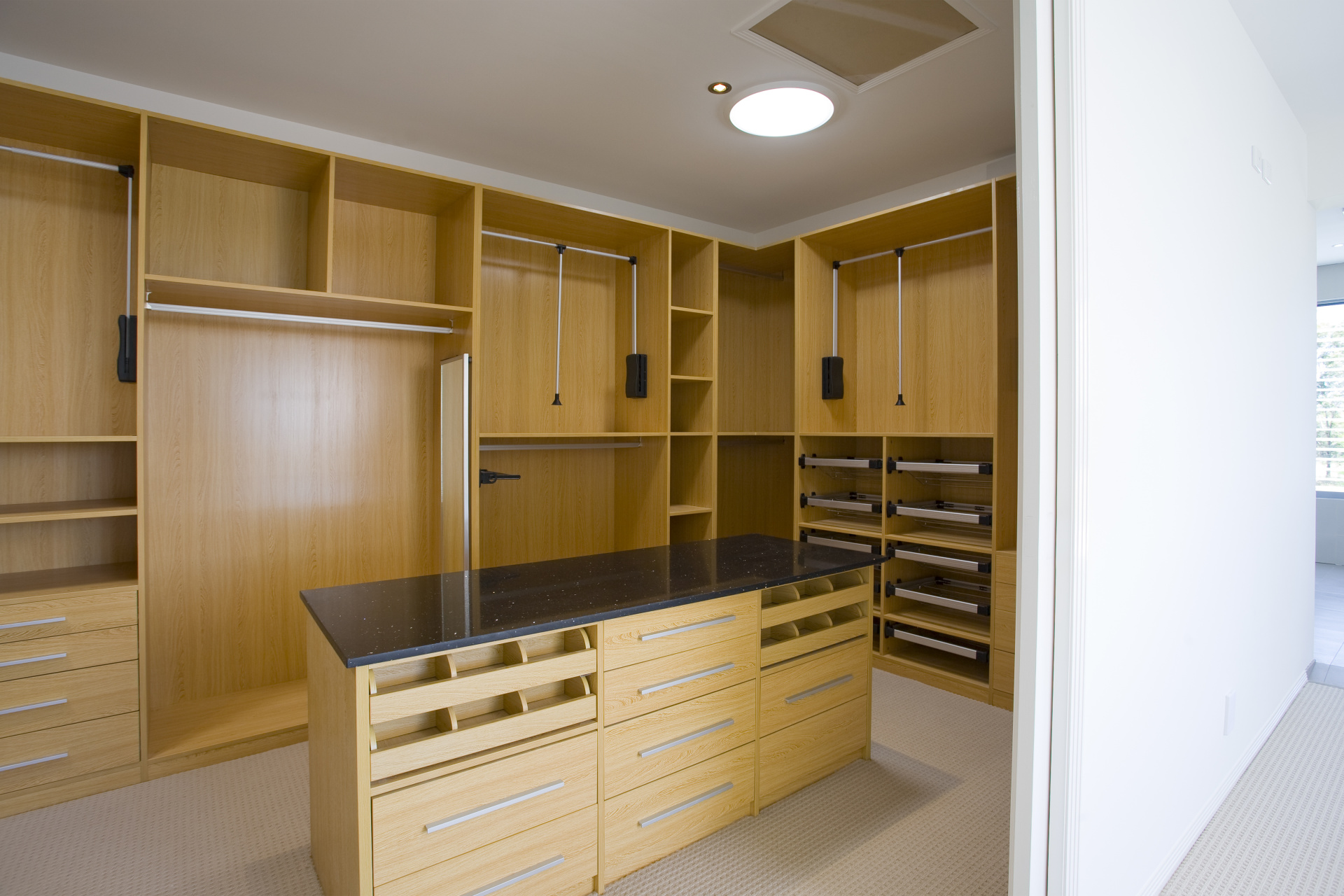 Walk in robe oak wardrobe