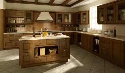 Modern-Kitchen-material – oak/ ash veneered mdf