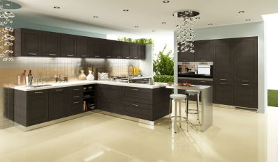 Modern-kitchen-material – oak / ash veneered mdf (horizontal grain)