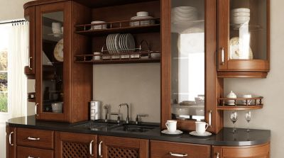 Classic-kitchen-material – cherry veneered mdf