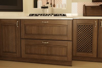 Classic-kitchen-material – ash / oak / cherry veneered mdf