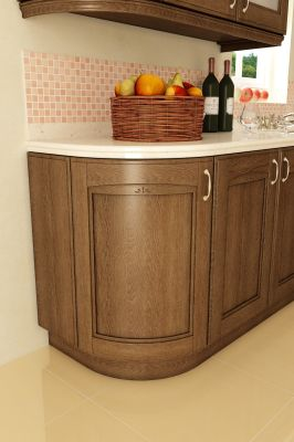Classic-kitchen-material – ash / oak / cherry veneered mdf