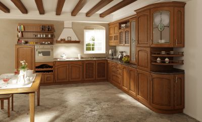 Classic-kitchen-material – solid wood - alder / oak