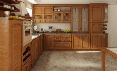 Classic-kitchen-material – solid wood - alder / oak