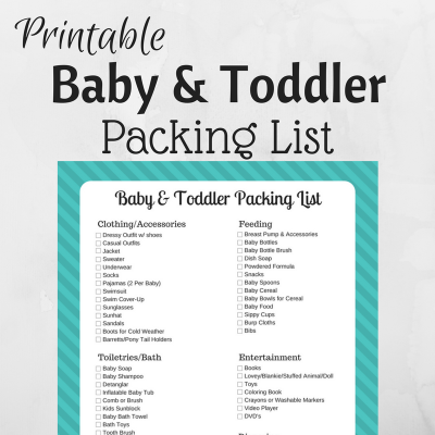Baby & Toddler Packing List