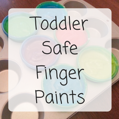 DIY Toddler Safe Finger Paint