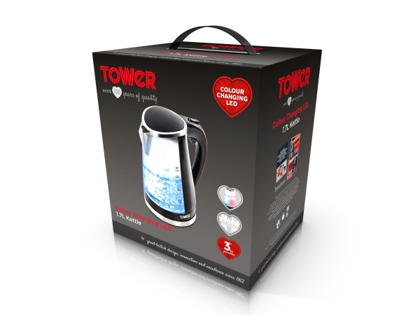 Tower Colour Changing Kettle